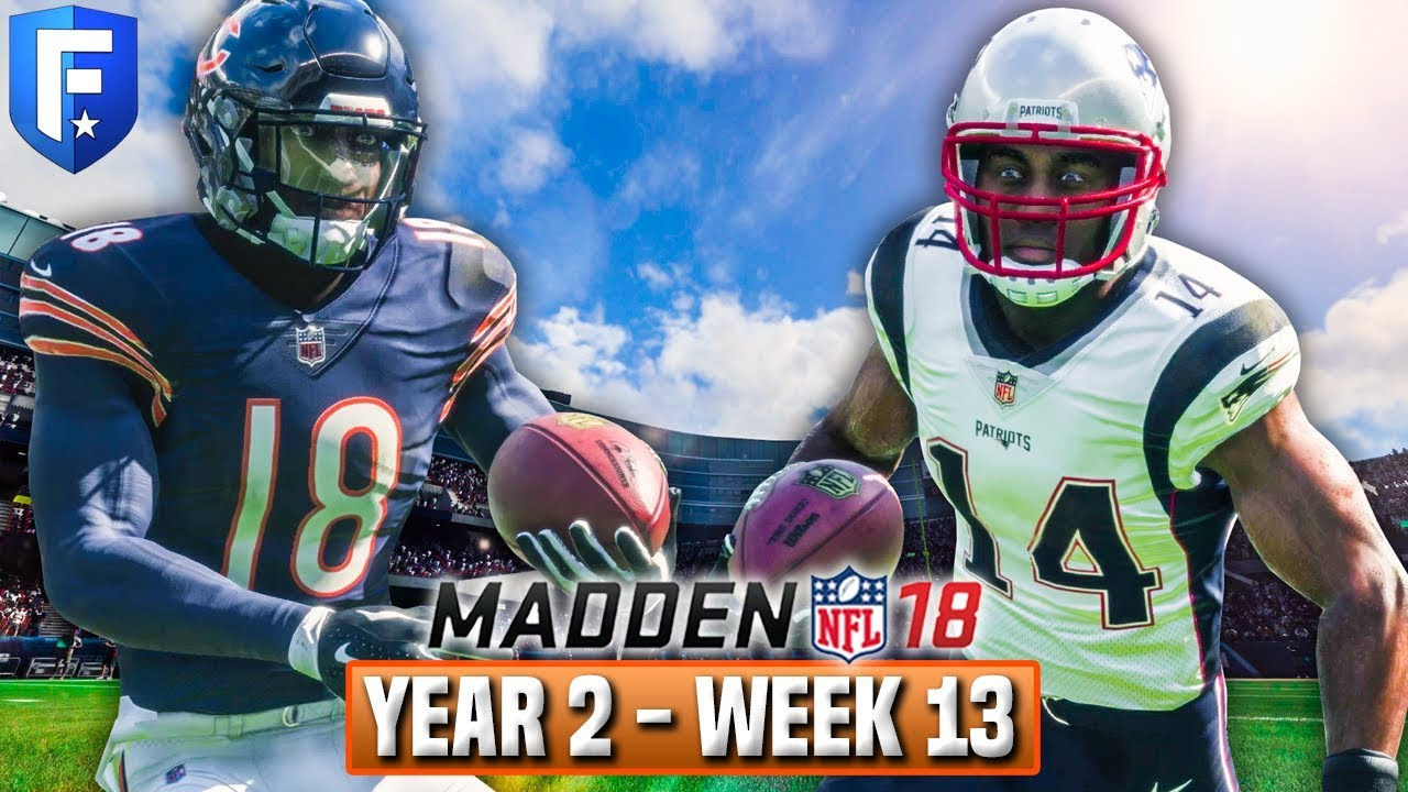 Madden 18 Bears Franchise Year 2 - Week 13 vs Patriots | Ep.32