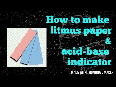 How To Make Litmus Paper And Acid - Base Indicator At Home