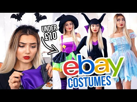 TRYING ON EBAY HALLOWEEN COSTUMES UNDER £10 *FAIL*