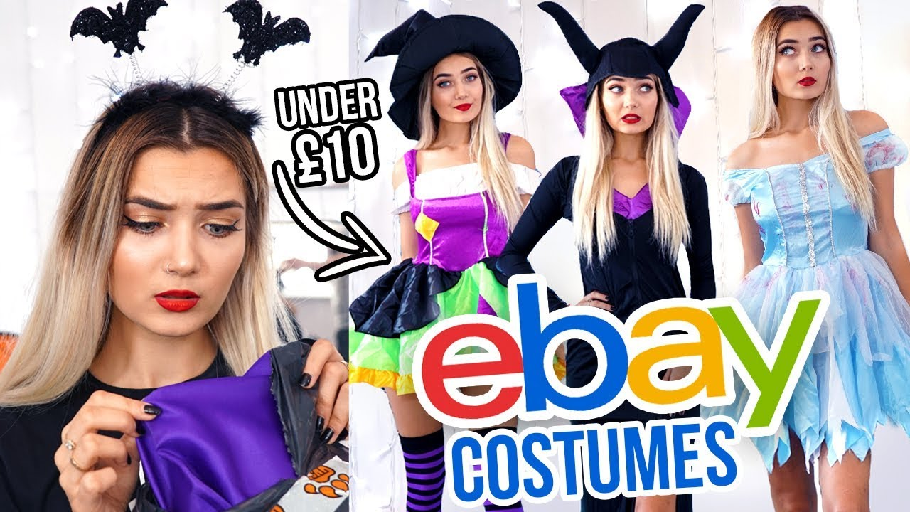 fce28a154b TRYING ON EBAY HALLOWEEN COSTUMES UNDER £10  FAIL  - YouTube