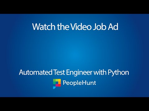 Automated Test Engineer with Python