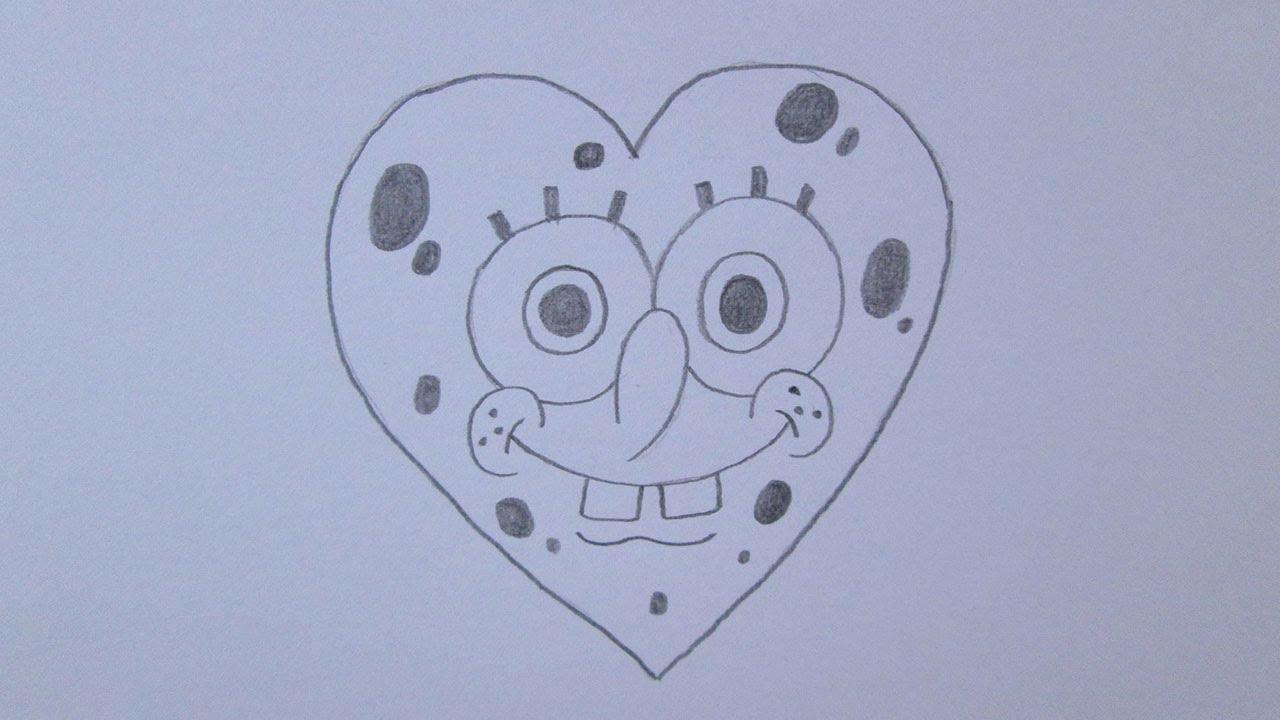 Desenhos Tumblr De Mão Estalando Como Fazer: Como Desenhar Um Coração (versão Bob Esponja)