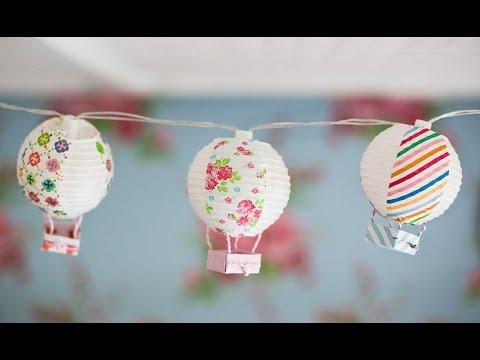 Diy mini hot air balloons sm luftballonger youtube for How to make a small air balloon