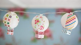 DIY Mini Hot Air Balloons - Små luftballonger