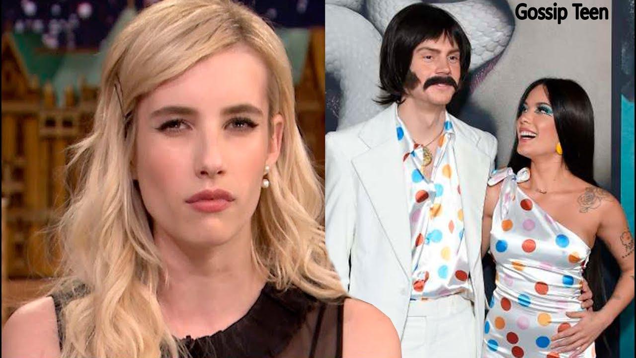 Emma Roberts Y El Incómodo Momento Con Evan Peters Y Su Novia Halsey Youtube