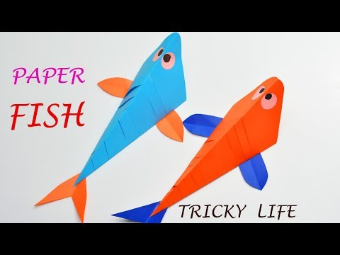 DIY PAPER FISH  PAPER CRAFT  TRICKY LIFE