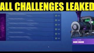 Fortnite ALL HALLOWEEN CHALLENGES - Récompenses (Unlock Dark Engine Glider)