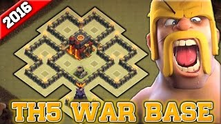 Clash of Clans - Underrated Town Hall 5 (TH5) War Base - MUST USE - 2016