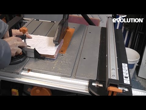 evolution rage5-s table saw: different ways how to cut acrylic