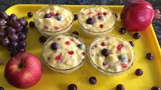 Fruit custard Recipe   Vanilla Custard Recipe   Alternative To Payasam in Tamil