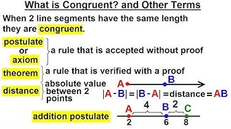 Geometry - Ch. 1: Basic Concepts (6 of 49) What is Congruent? And Other Terms