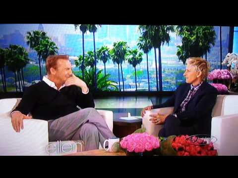 Kevin Costner on The Ellen Show part 1