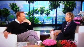 Kevin Costner on The Ellen Show part 1