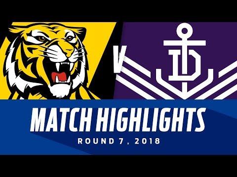 Match Highlights: Richmond v Fremantle | Round 7, 2018 | AFL