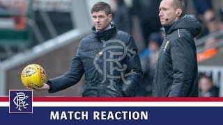 REACTION | Steven Gerrard | St Mirren 0-2 Rangers