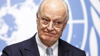 دي ميستورا يحث دمشق على السماح فورا بتوزيع المساعدات الانسانية