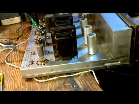Fisher X100A Tube Amplifier Video #1 Checkout