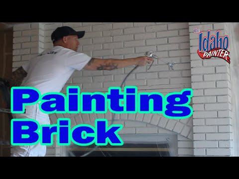 Painting A Brick Fireplace.Hacks Painting Bricks or Concrete How to paint bricks or stone.