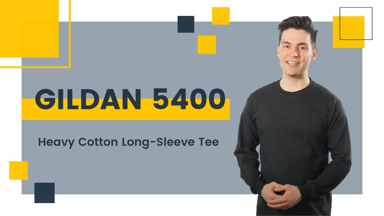 1ebd3156217 Gildan 5400 Heavy Cotton Long-Sleeve Tee