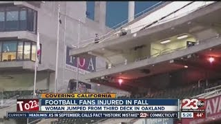 Two Fans injured at Oakland Coliseum