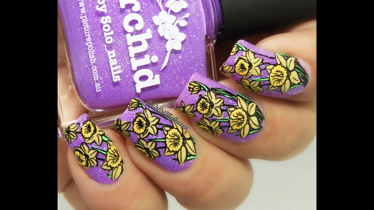Diy Spring Flowering Bulb Nails Picture Polish El Corazon Polishes
