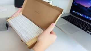 unboxing anker ultra compact slim profile wireless bluetooth keyboard