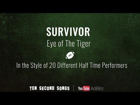 Survivor - Eye Of The Tiger | Ten Second Songs 20 Style Cover  #YouTubeAdBlitz