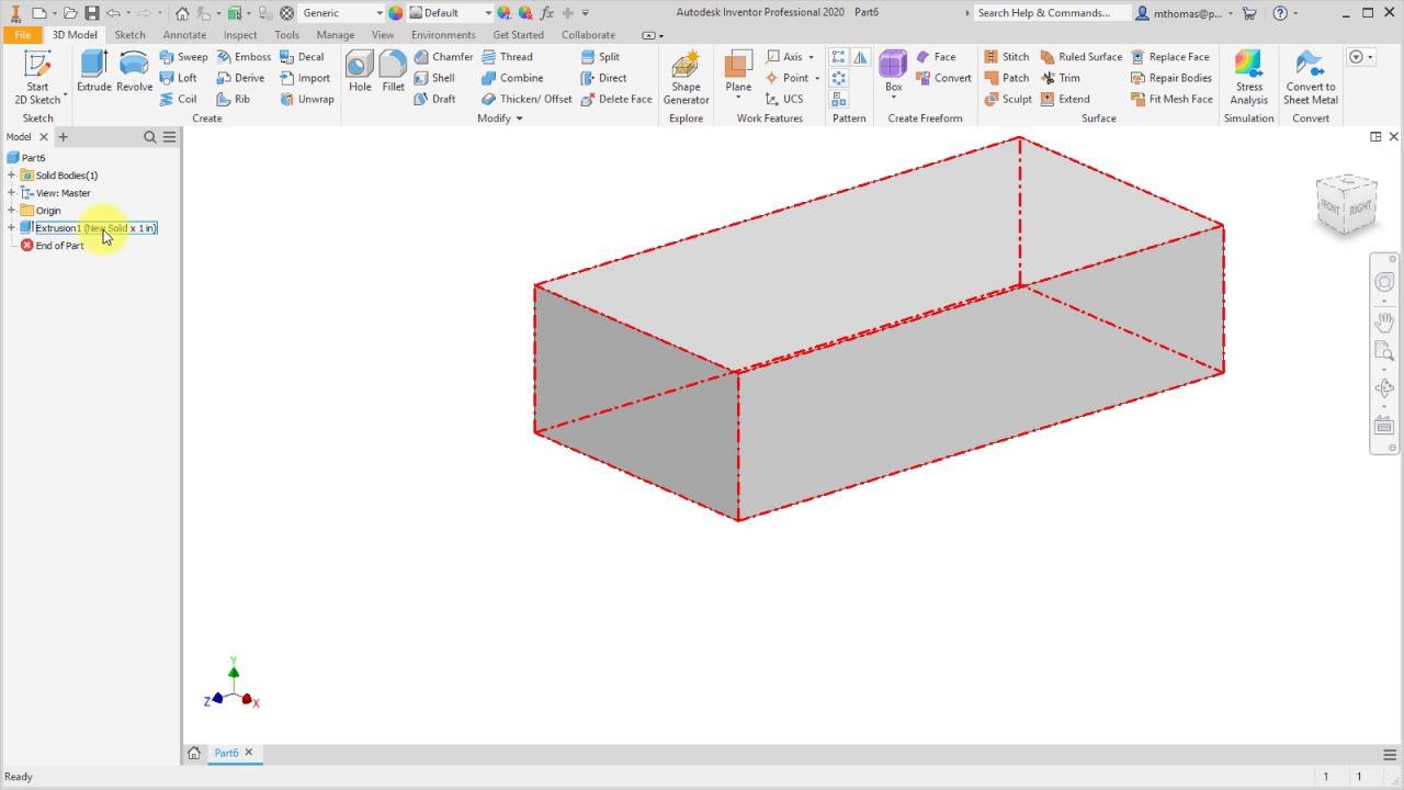 Inventor 2020 User Interface Enhancements Design Motion