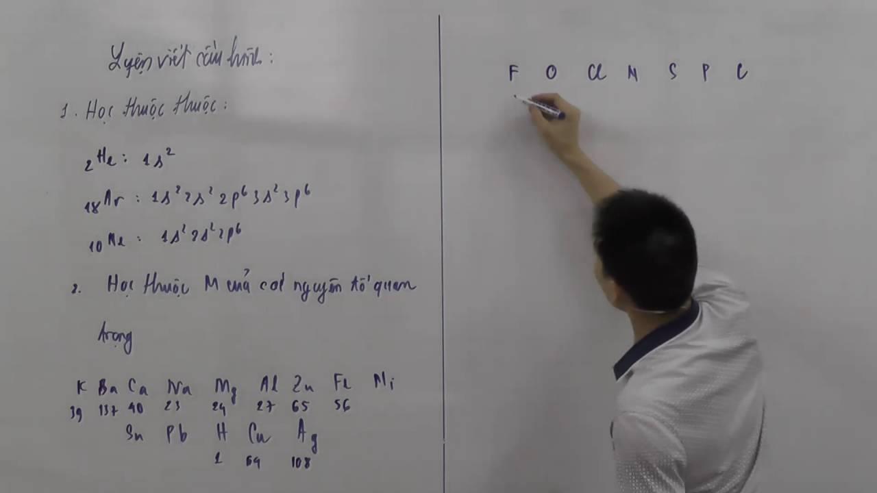 Viết cấu hình electron siêu nhanh phần 1