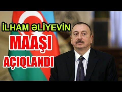 İlham Əliyevin maaşı açıqlandı