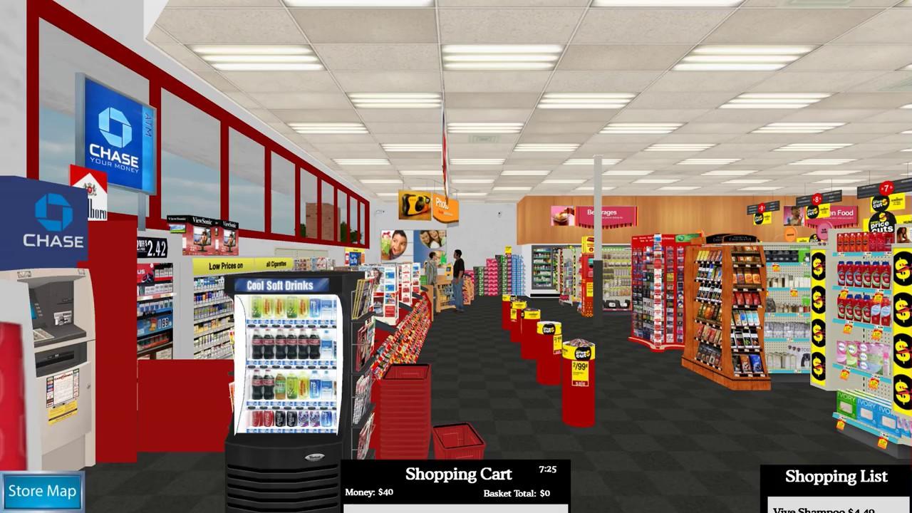 Virtual Environment Grocery Store (VEGS): Pharmacist 1 - YouTube