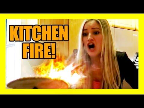 KITCHEN FIRE!!!! | iJustine