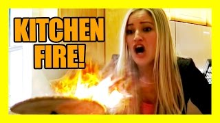 KITCHEN FIRE!!!! | iJustine