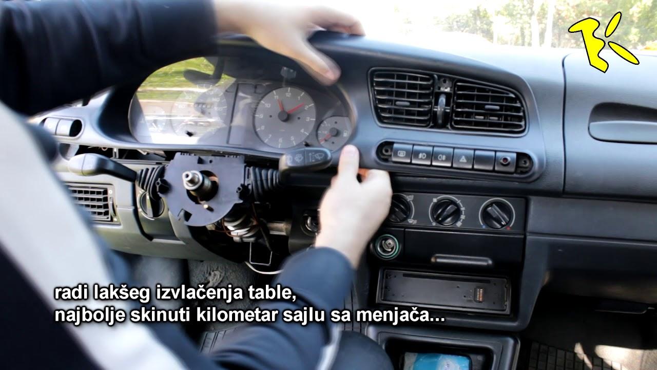 skoda felicia dashboard removal skidanje instrument table koda felicia [ 1280 x 720 Pixel ]