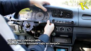 Skoda Felicia dashboard removal - skidanje instrument table Škoda Felicia