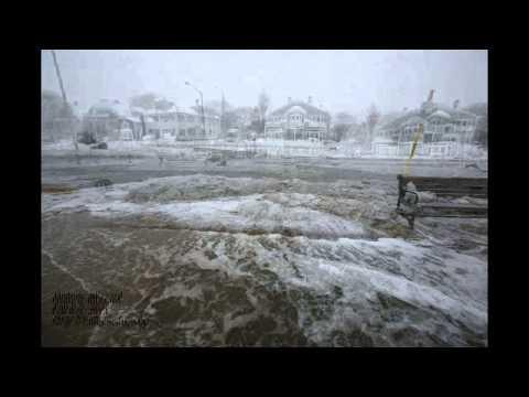 Blizzard/Coastal flooding Swampscott, MA 10-9-13 Clip 2