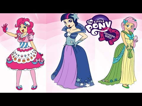Equestria Girls Twilight Fluttershy & Pinkie Pie Fashion Games: My Little pony Equestria Girls: Pinkie Pie, Fluttershy, Twilight Sparkle are popular movie characters MLP Equestria Girls Rainbow Rocks.  You can dress Canterlot Girls and change their hairstyles, clothing, footwear and choose which you want. See my choice.  Please SUBSCRIBE for NEW Toons Universe Video!