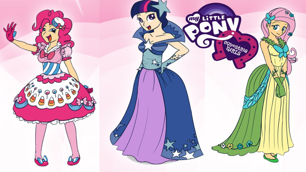 Equestria girls twilight fluttershy pinkie pie fashion for Wedding dress up games for girls and boys