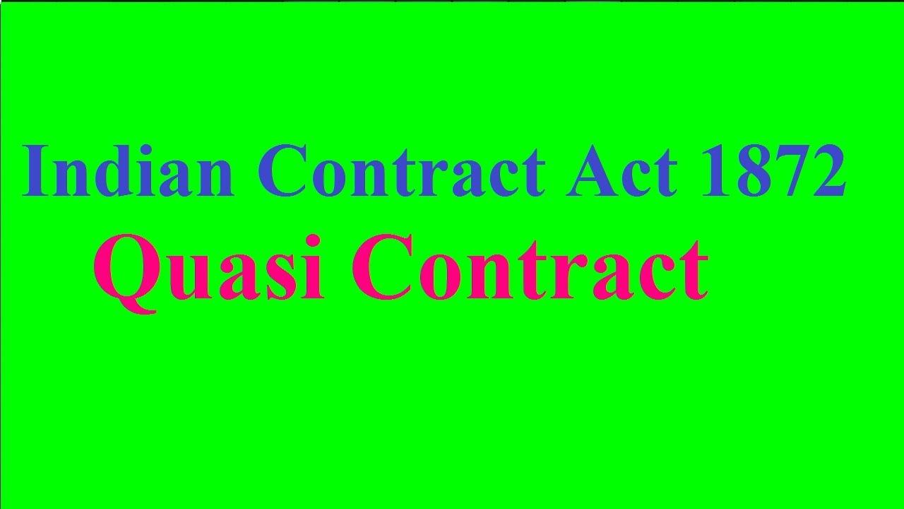 quasi contract law