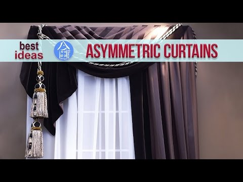 💗 Window Curtains Design – Modern Asymmetrical Ideas For Living Room, Bedroom, Kitchen