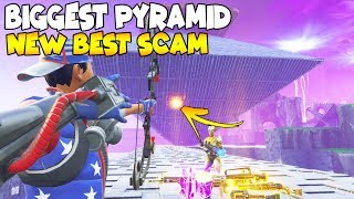 NEW BIGGEST PYRAMID SCAM! 😱 (Scammer Gets Scammed) Fortnite Save The World