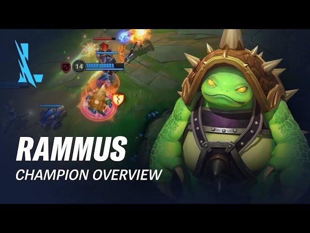 Rammus Champion Overview | Gameplay - League of Legends: Wild Rift