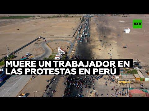 RT en Español: Un trabajador rural en Perú muere tras recibir un disparo en la cabeza durante las protestas