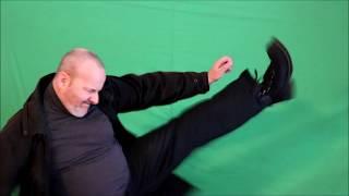 martial arts acting,strikes & kicks free green screen