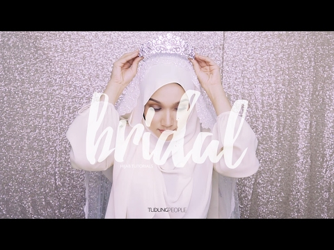 Wedding Hijab Tutorial: Side Sweep with Tiara