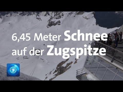 Schneemassen im Juni: Mehr als 6 Meter Schnee auf der Zugspitze