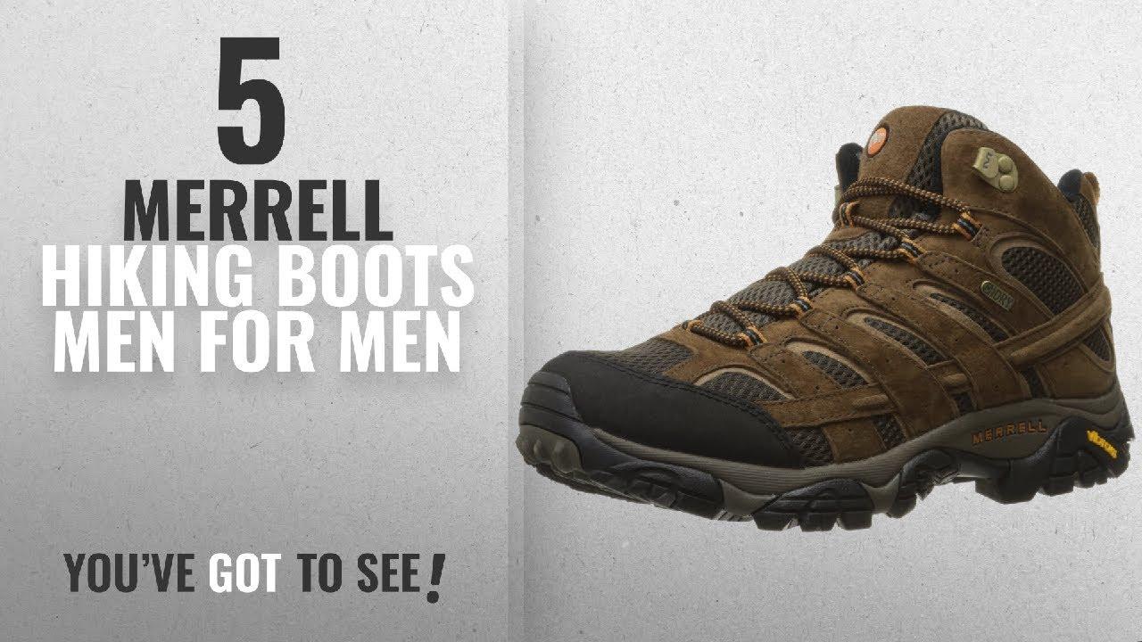 Top 10 Merrell Hiking Boots Men [ Winter 2018 ]: Merrell Men's Moab 2 Mid  Waterproof Hiking Boot,