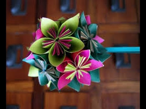 Como hacer flores de papel tutorial ideas faciles youtube - Como hacer rosas de papel ...