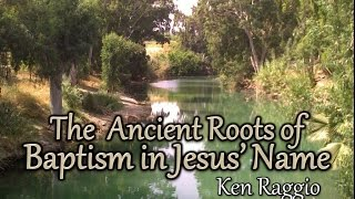"""The Ancient Roots Of Baptism in Jesus"