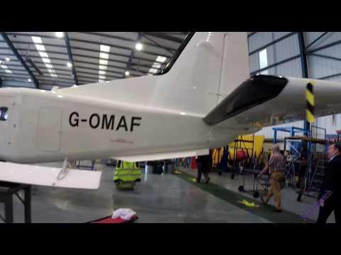 A short walk around the Aurigny Dorniers in the Aurigny hangar. 4K UHD video